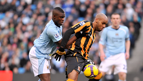 Micah battles with Hull's Marlon King