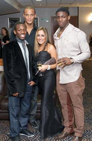 Shaun Wright-Phillips with guests including Micah and Vincent Kompany