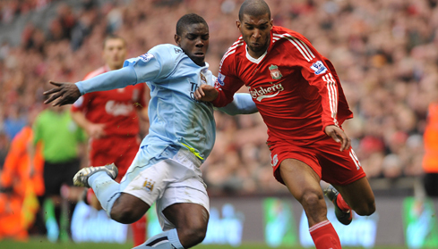 Micah battles with Ryan Babel
