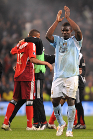 Micah applauds City fans after the final whistle blows