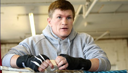 Ricky Hatton in training
