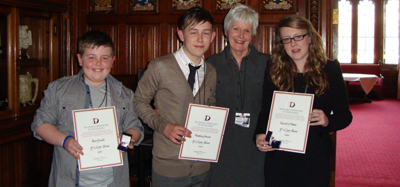 Youngsters receive Diana Award