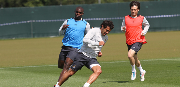 Micah training with team mates