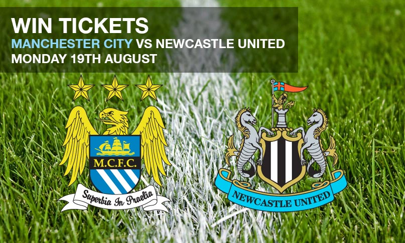 Win tickets to Manchester City v Newcastle United on Monday 19th August