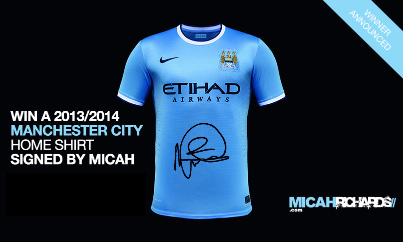 The winner of the signed Manchester City shirt has been announced