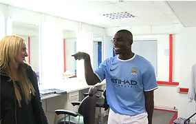 Micah pranks Man City staff