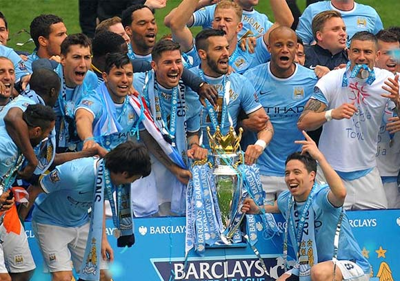 Manchester City win the Barclays Premier League Title