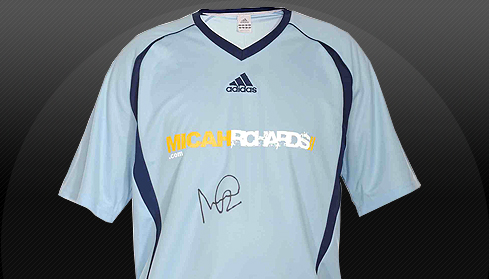 MicahRichards.com limited edition signed shirt